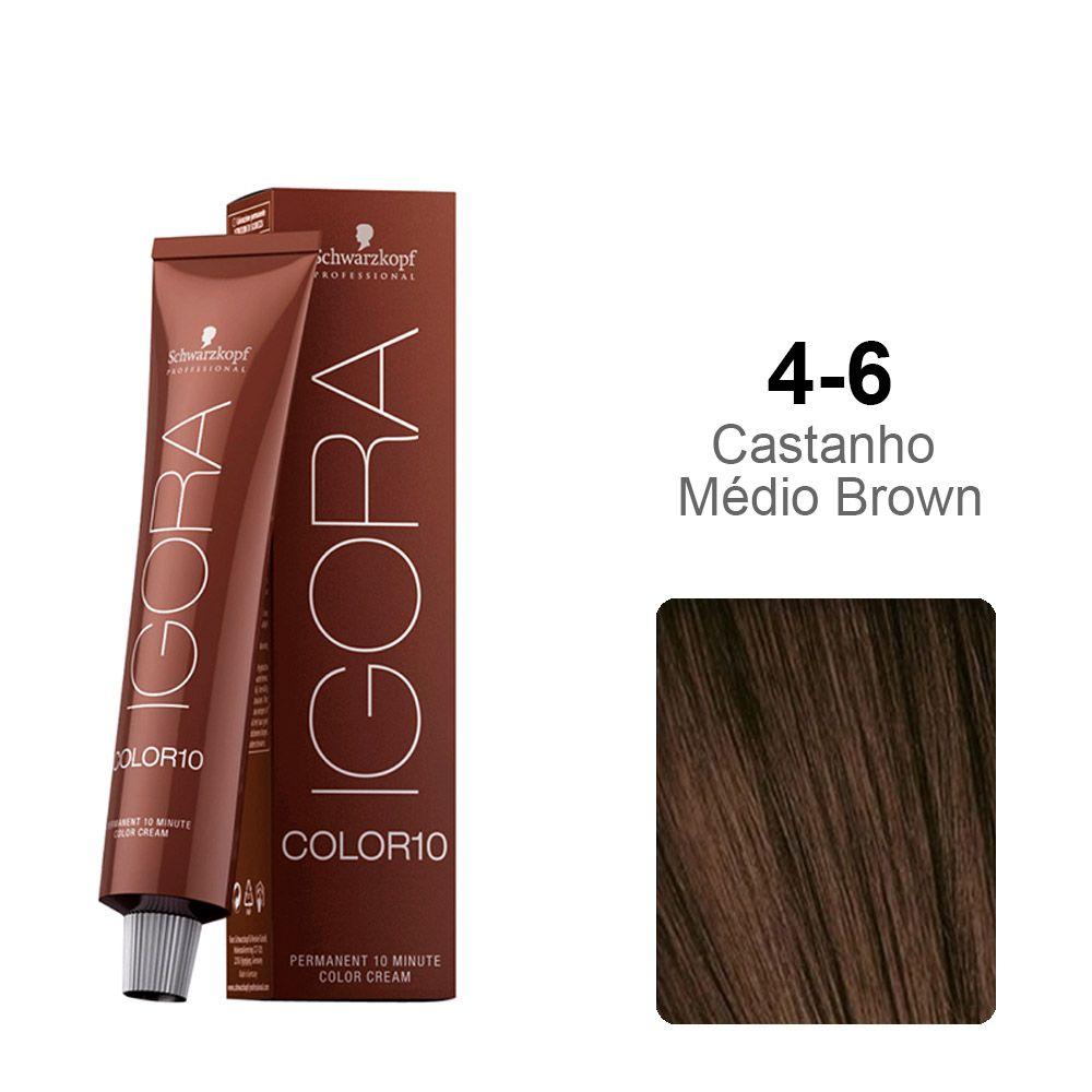 Igora Color10 4-6 Castanho Médio Brown
