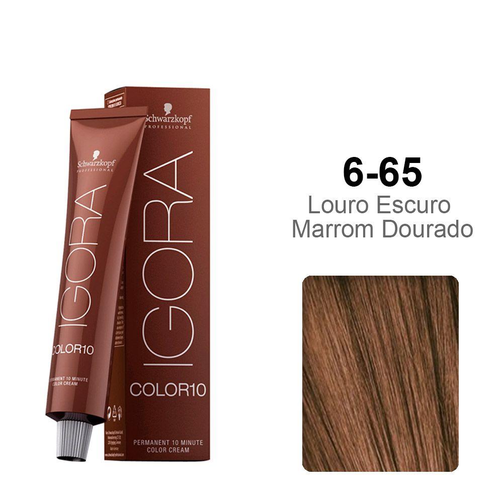 Igora Color10 6-65 Louro Escuro Marrom Dourado