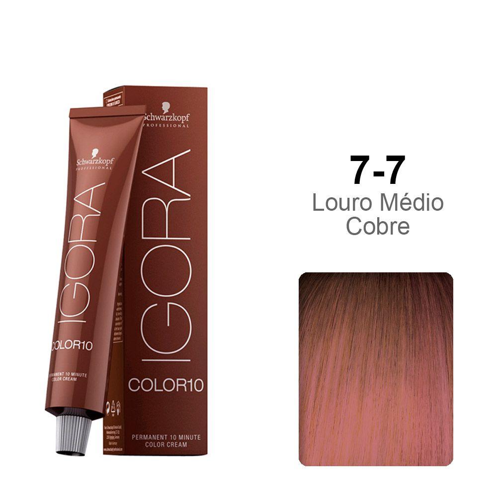 Igora Color10 7-7 Louro Médio Cobre