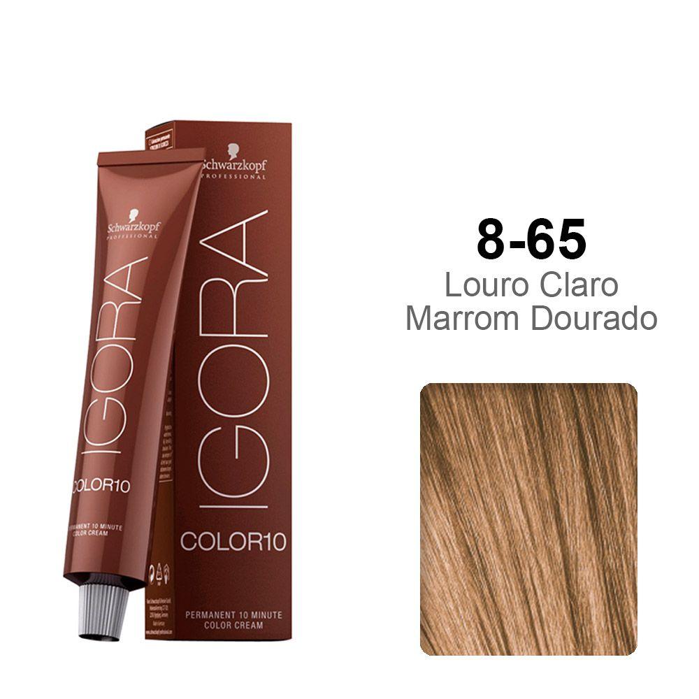 Igora Color10 8-65 Louro Claro Marrom Dourado
