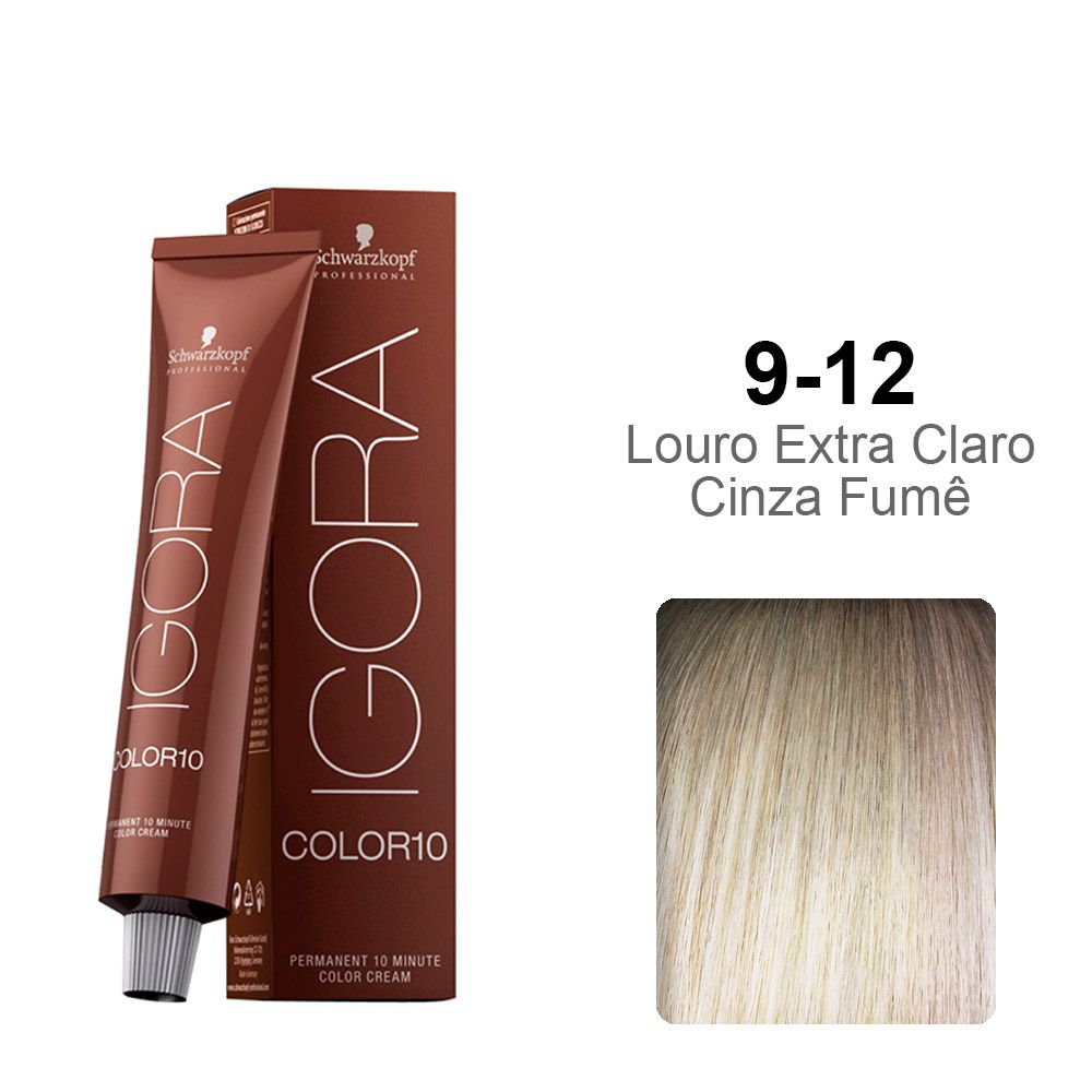 Igora Color10 9-12 Louro Extra Claro Cinza Fumê
