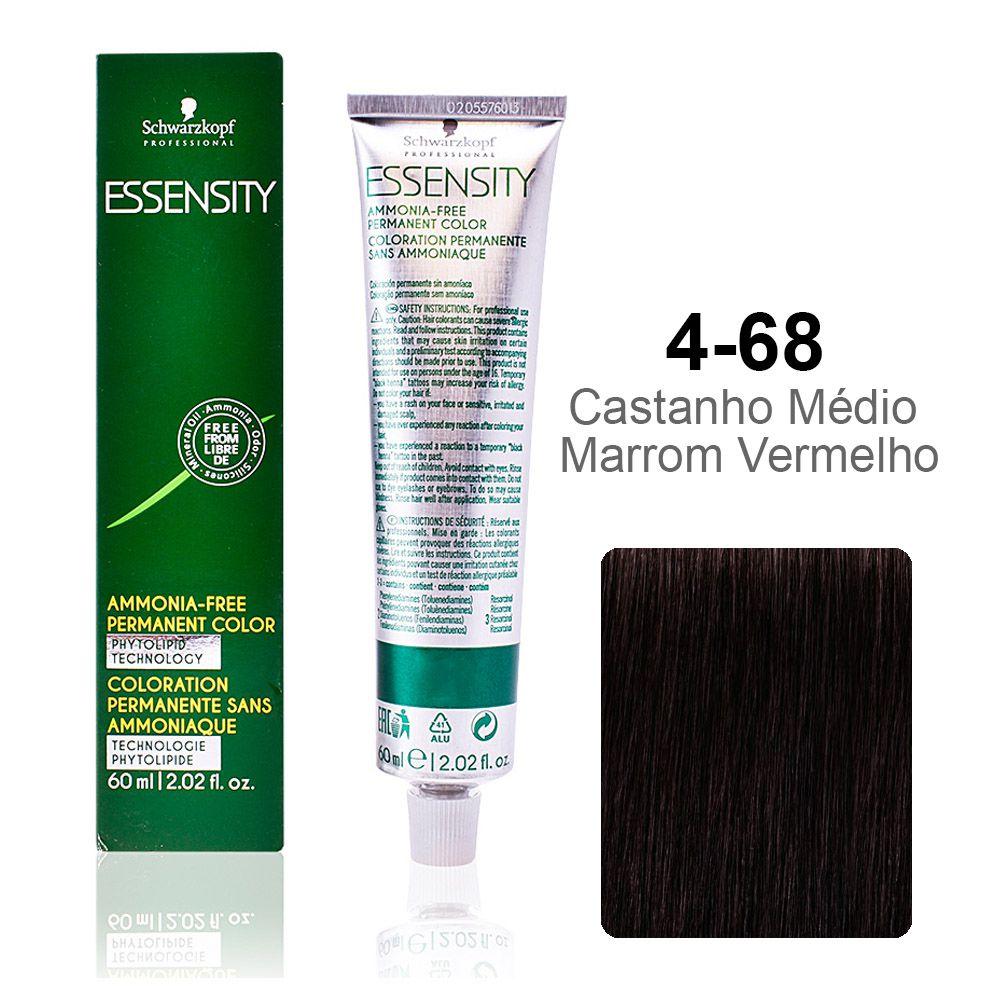 Essensity 4-68 Castanho Médio Marrom Vermelho