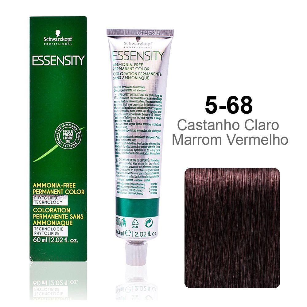 Essensity 5-68 Castanho Claro Marrom Vermelho