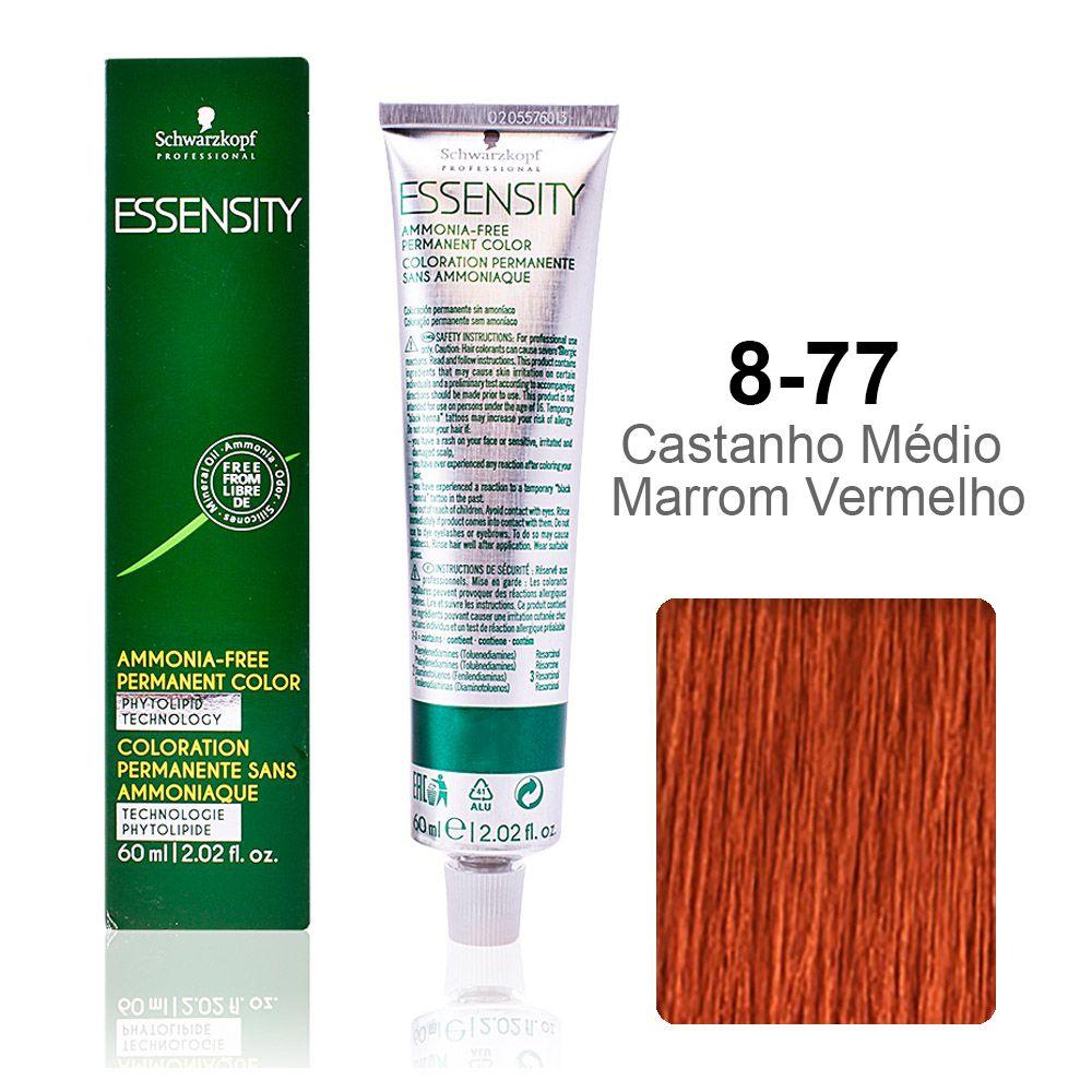 Essensity 8-77 Castanho Médio Marrom Vermelho
