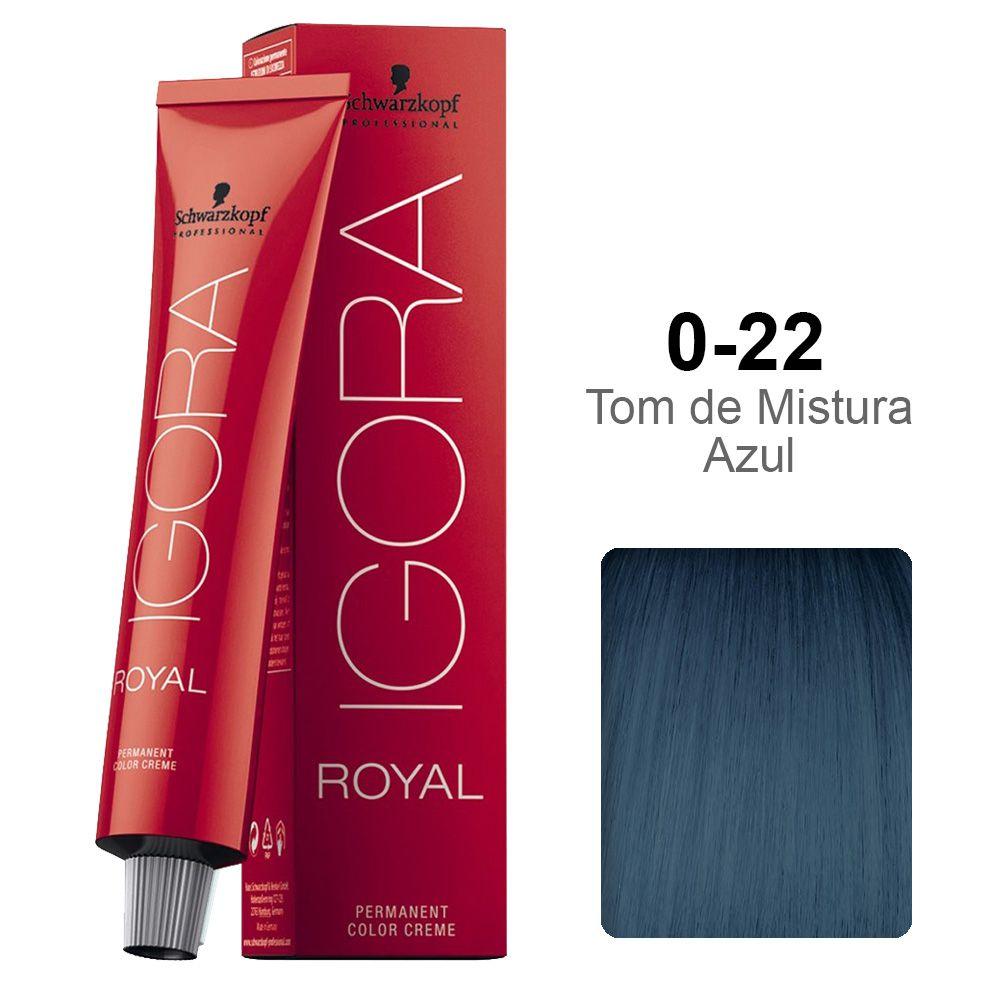 Igora Royal 0-22 Tom de Mistura Azul