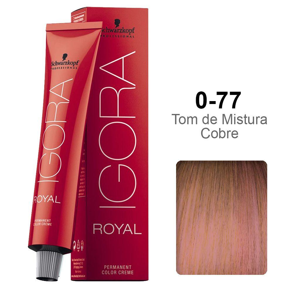 Igora Royal 0-77 Tom de Mistura Cobre