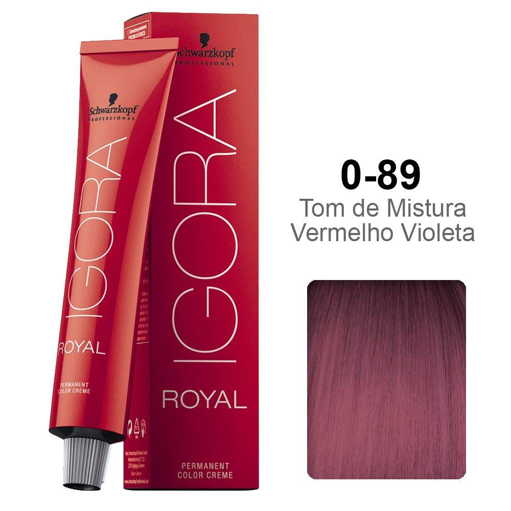 Igora Royal 0-89 Tom de Mistura Vermelho Violeta