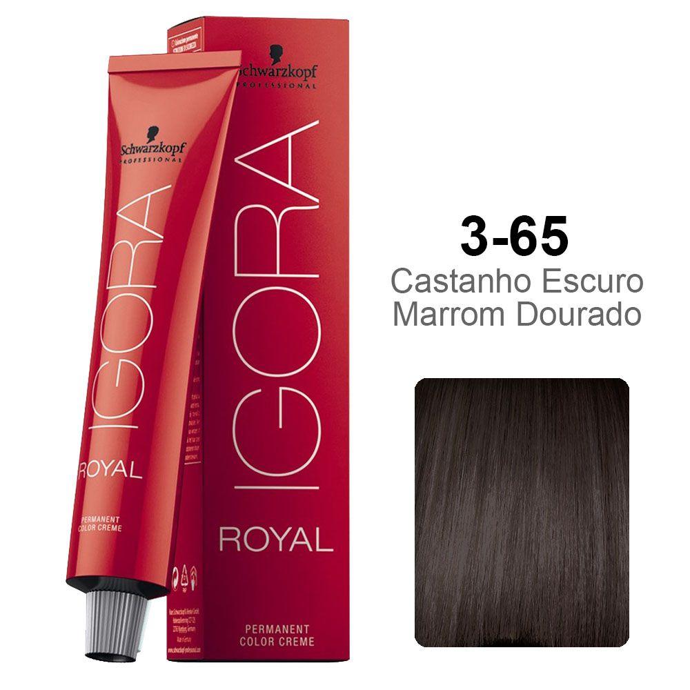 Igora Royal 3-65 Castanho Escuro Marrom Dourado