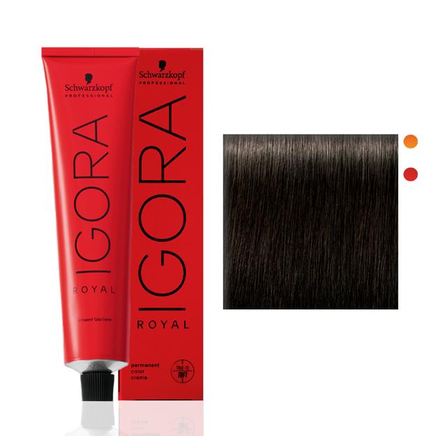 Igora Royal Coloração 4-0 Castanho Médio Natural