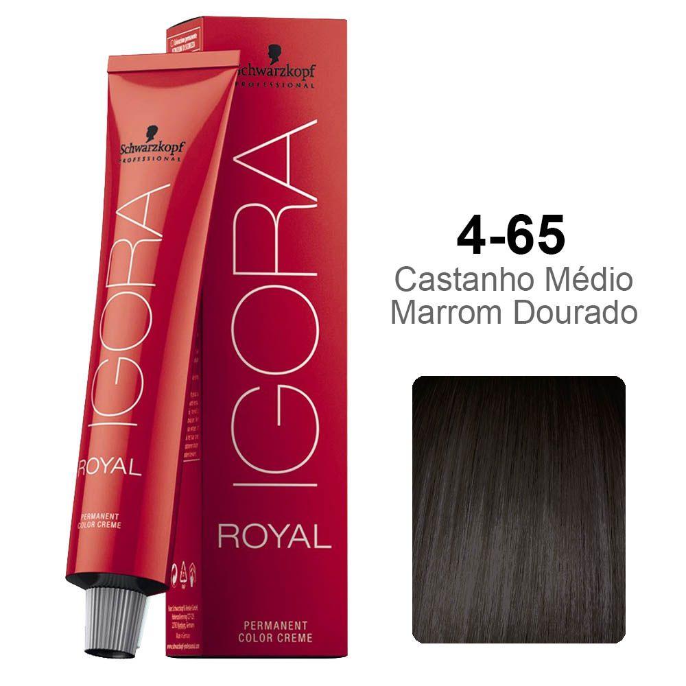 Igora Royal 4-65 Castanho Médio Marrom Dourado
