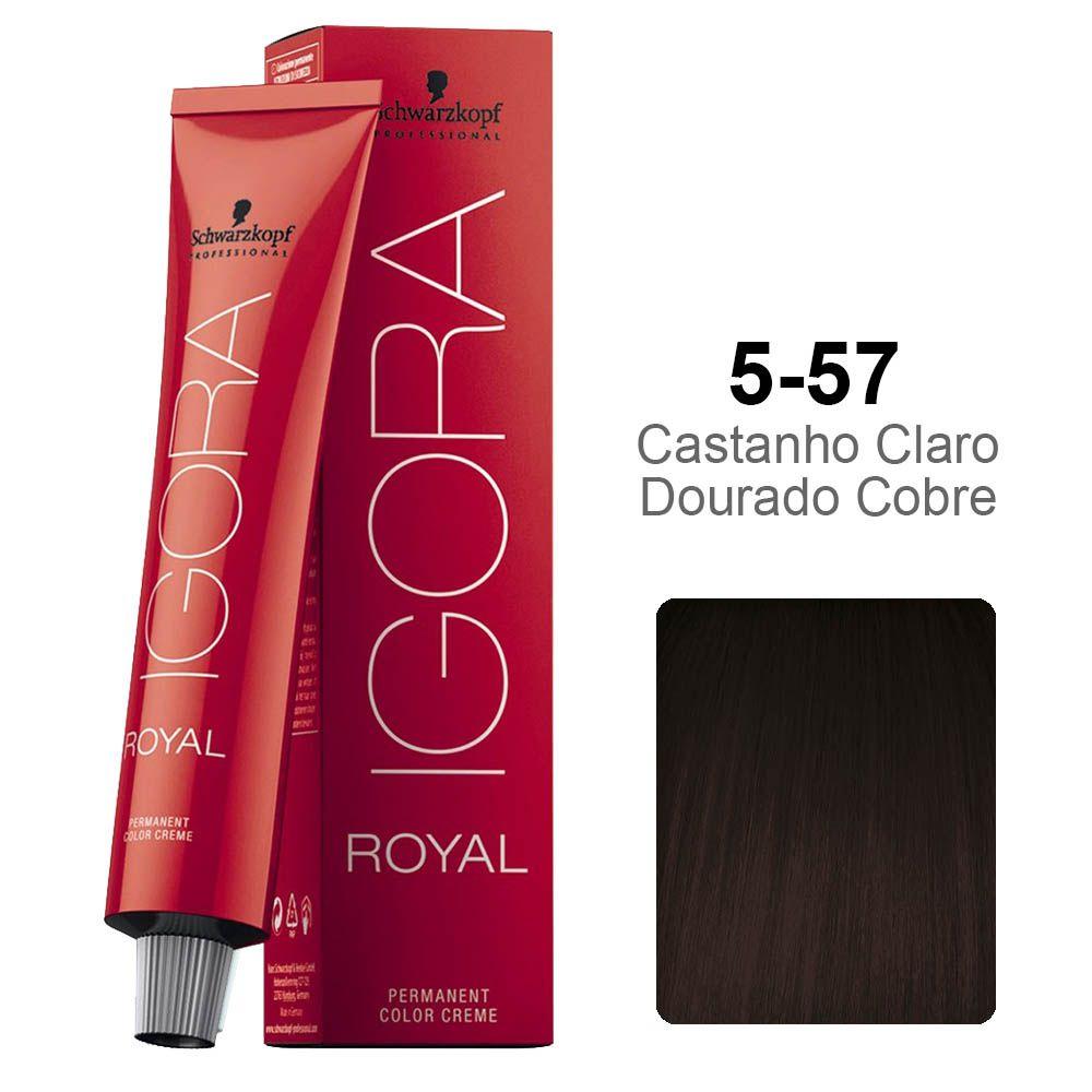 Igora Royal 5-57 Castanho Claro Dourado Cobre