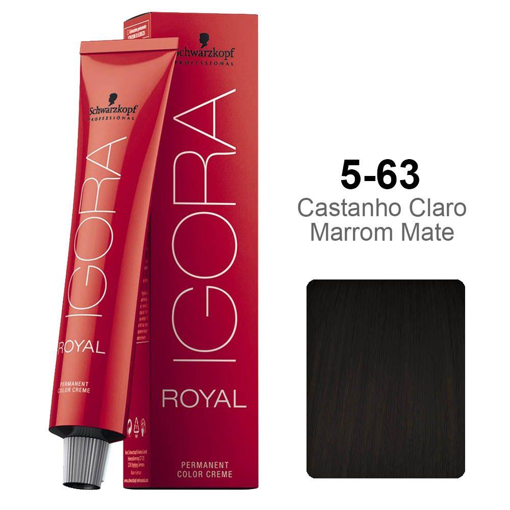 Igora Royal 5-63 Castanho Claro Marrom Mate