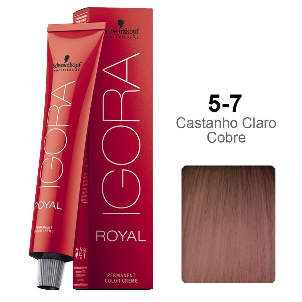 Igora Royal 5-7 Castanho Claro Marrom Vermelho