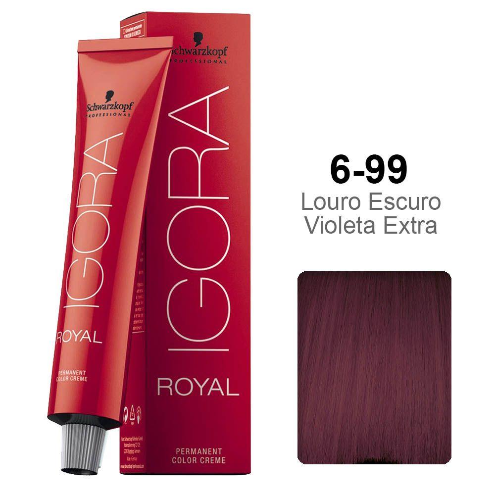 Igora Royal 6-99 Louro Escuro Violeta Extra