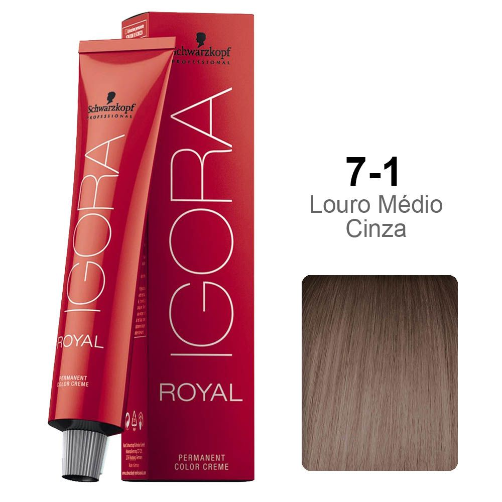 Igora Royal 7-1 Louro Médio Cinza