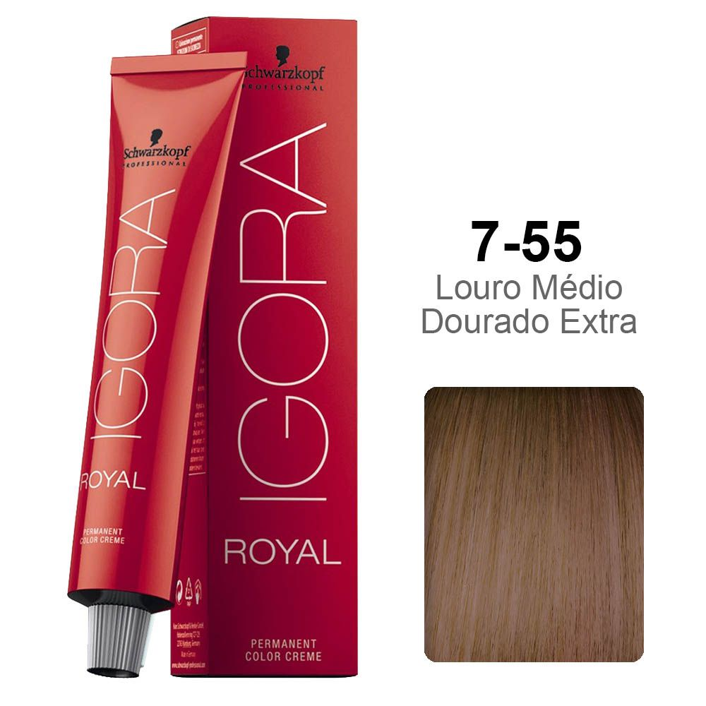 Igora Royal 7-55 Louro Médio Dourado Extra