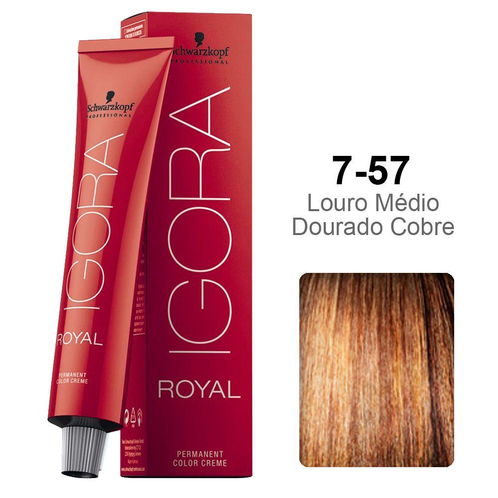 Igora Royal 7-57 Louro Médio Dourado Cobre