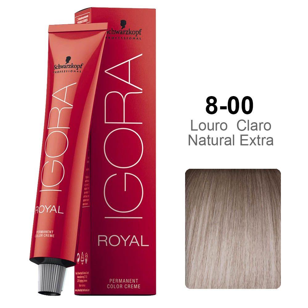 Igora Royal 8-00 Louro Claro Natural Extra