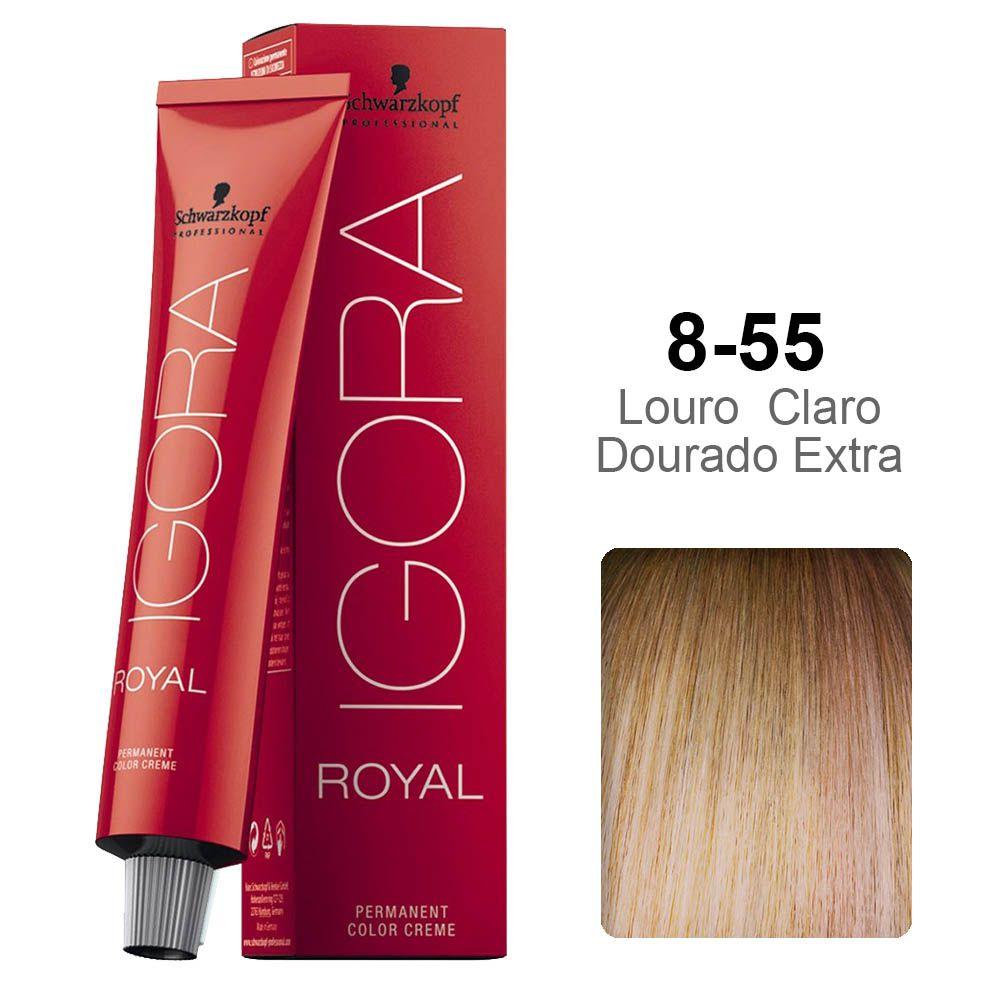 Igora Royal 8-55 Louro Claro Dourado Extra