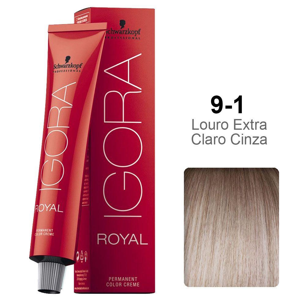 Igora Royal 9-1 Louro Extra Claro Cinza