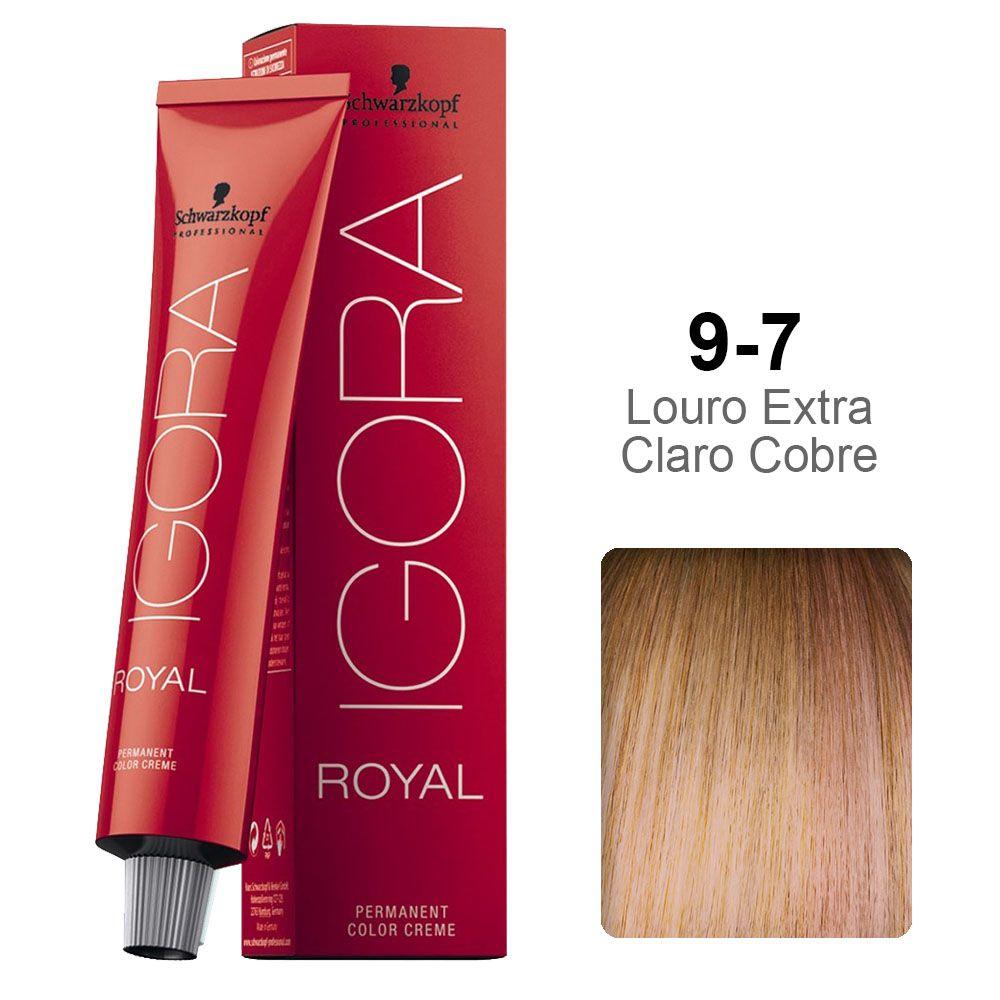 Igora Royal 9-7 Louro Extra Claro Cobre