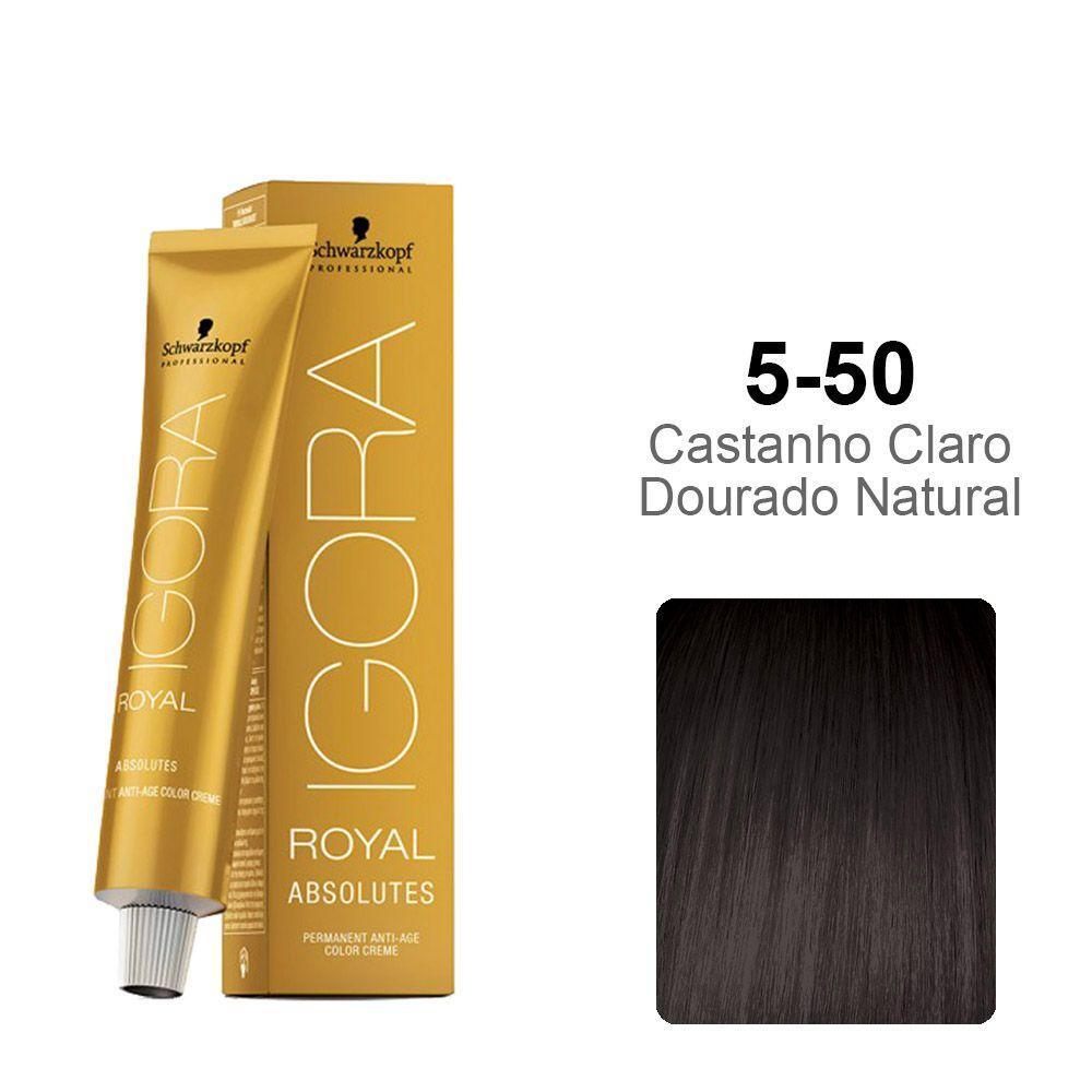 Igora Royal Absolutes 5-50 Castanho Claro Dourado Natural