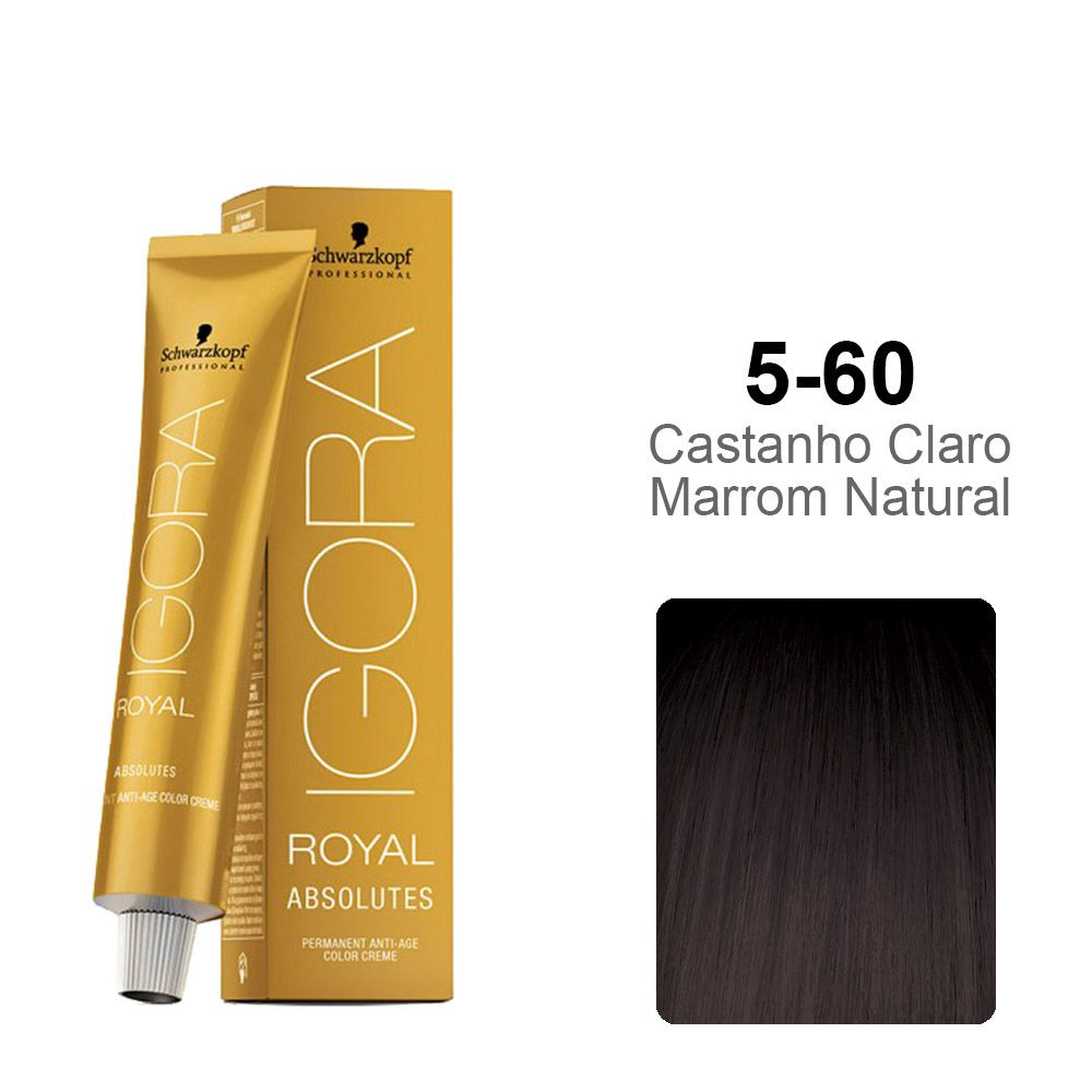 Igora Royal Absolutes 5-60 Castanho Claro Marrom Natural