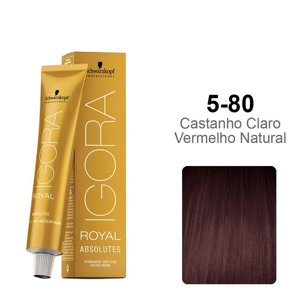Igora Royal Absolutes 5-80 Castanho Claro Vermelho Natural