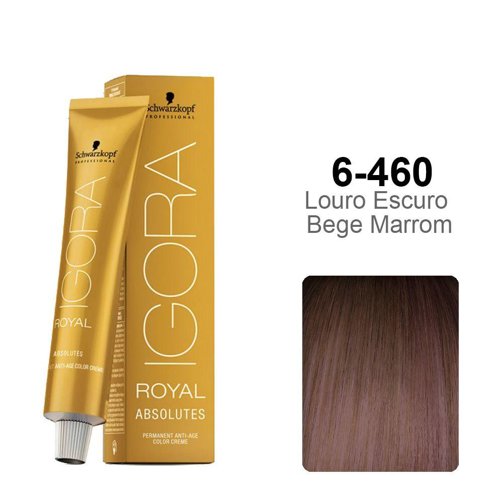 Igora Royal Absolutes 6-460 Louro Escuro Bege Marrom
