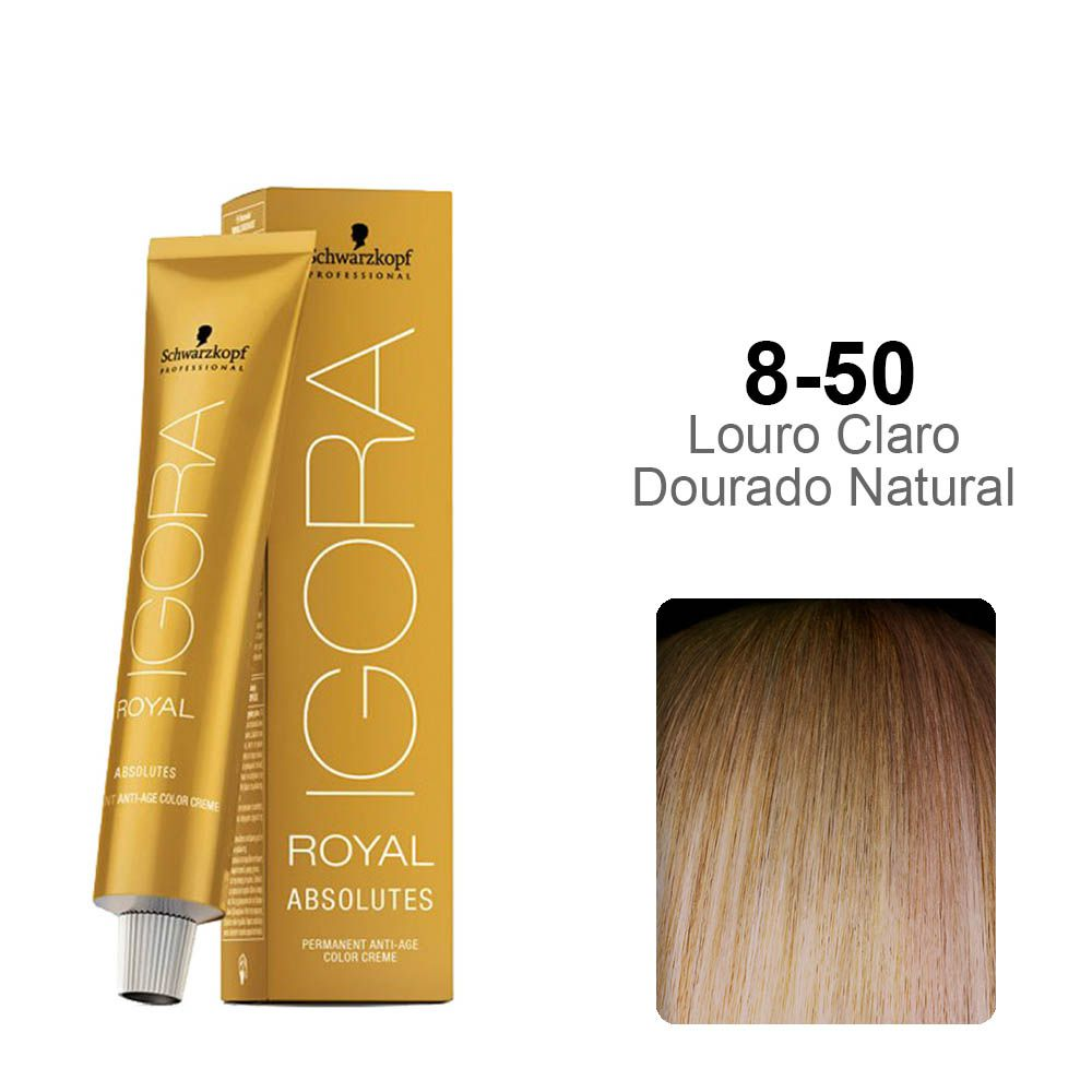 Igora Royal Absolutes 8-50 Louro Claro Dourado Natural