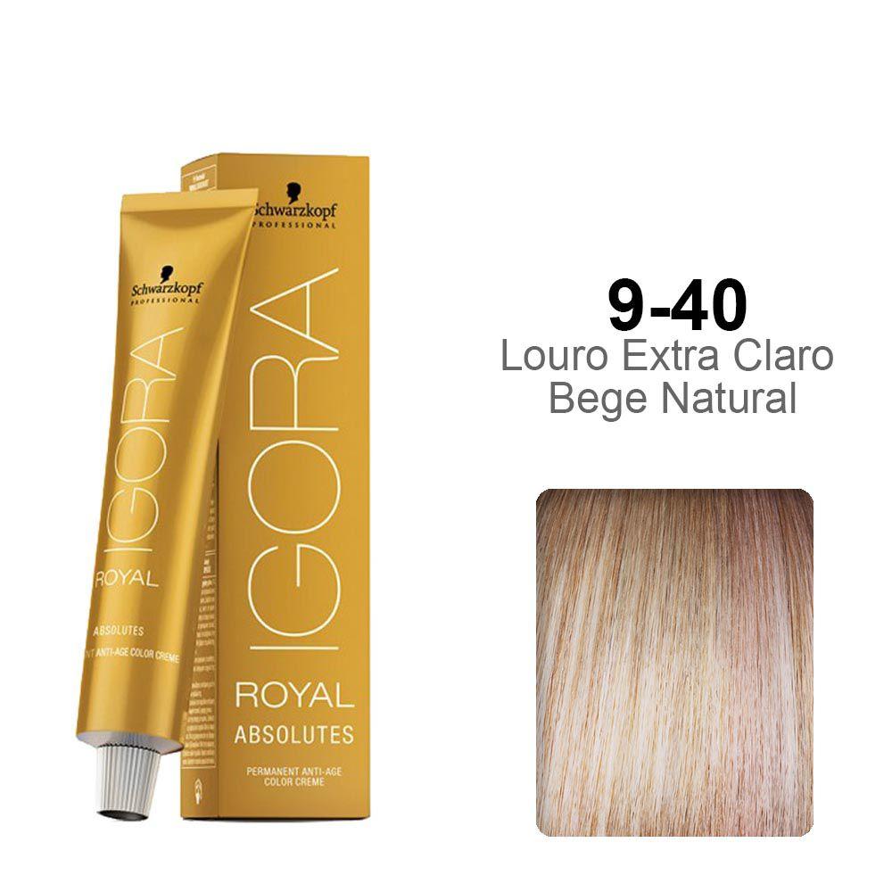 Igora Royal Absolutes 9-40 Louro Extra Claro Bege Natural