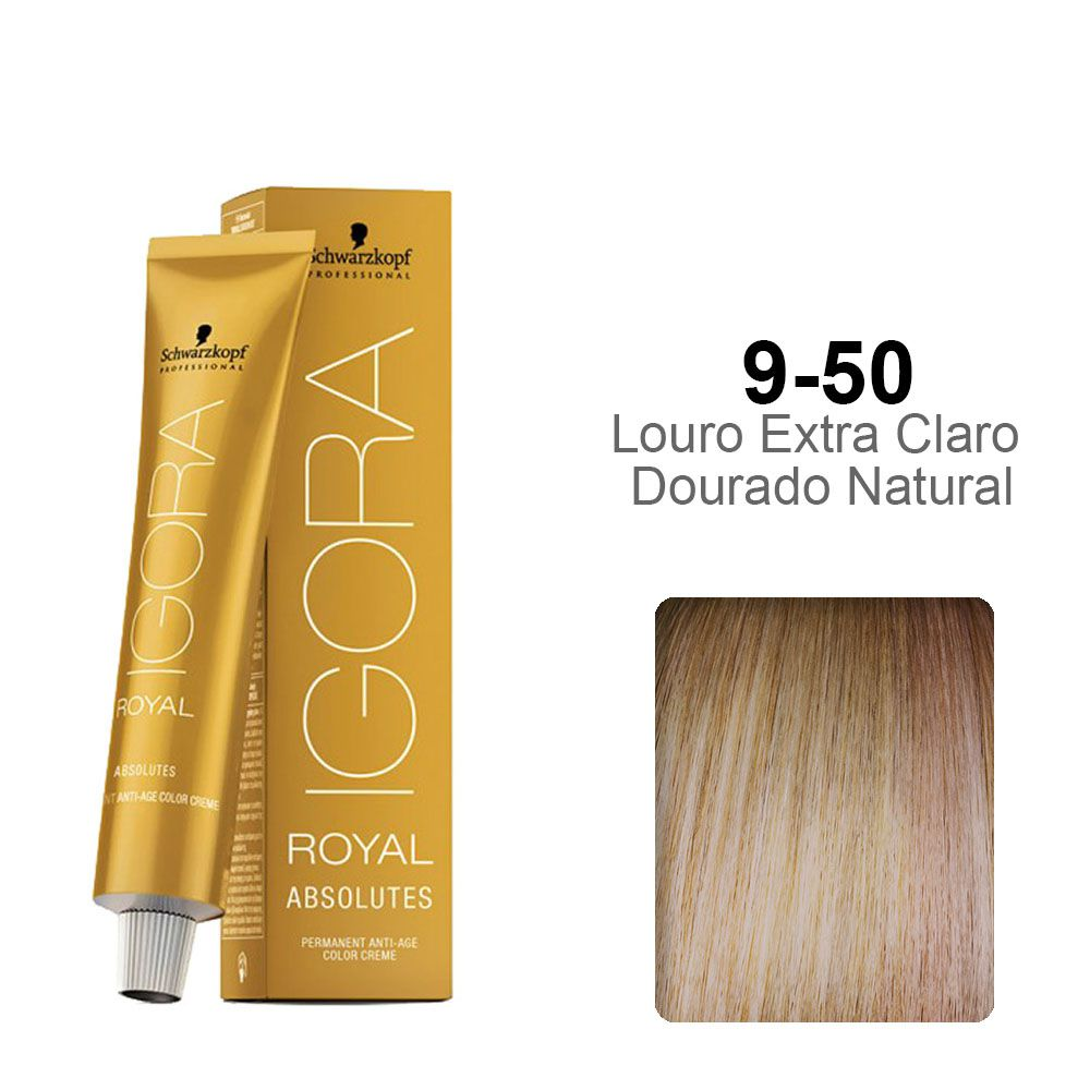 Igora Royal Absolutes 9-50 Louro Extra Claro Dourado Natural
