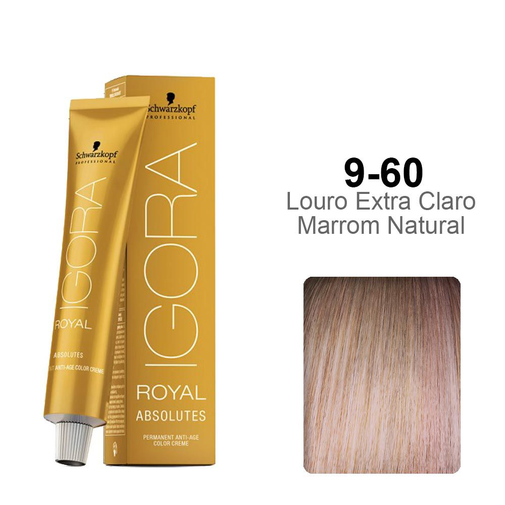 Igora Royal Absolutes 9-60 Louro Extra Claro Marrom Natural