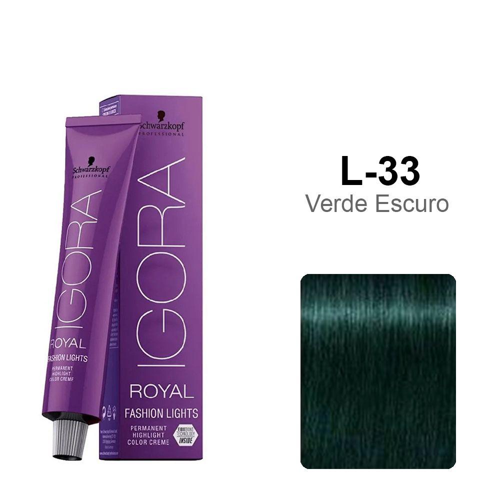 Igora Royal Fashion Lights L-33 - Verde Escuro