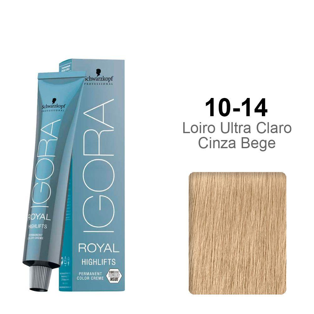 Igora Royal Highlifts 10-14 Louro Ultra Claro Cinza Bege