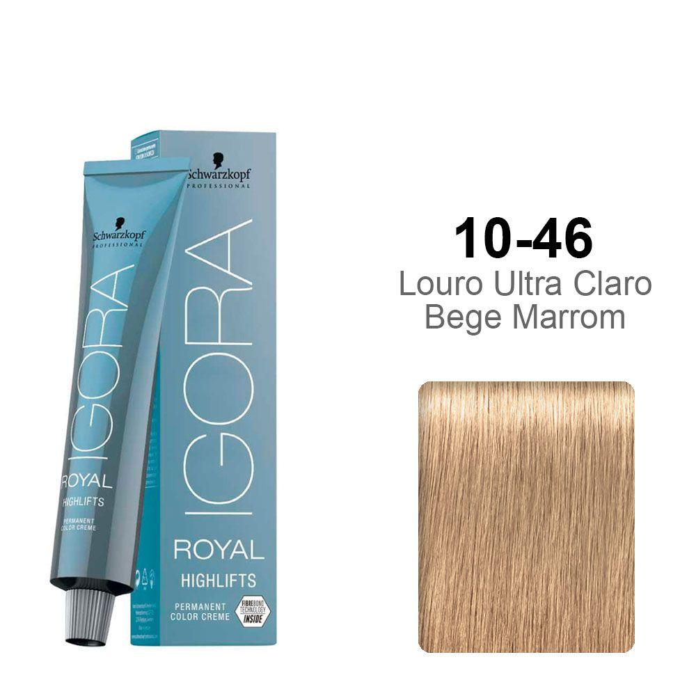 Igora Royal Highlifts 10-46 Louro Ultra Claro Bege Marrom