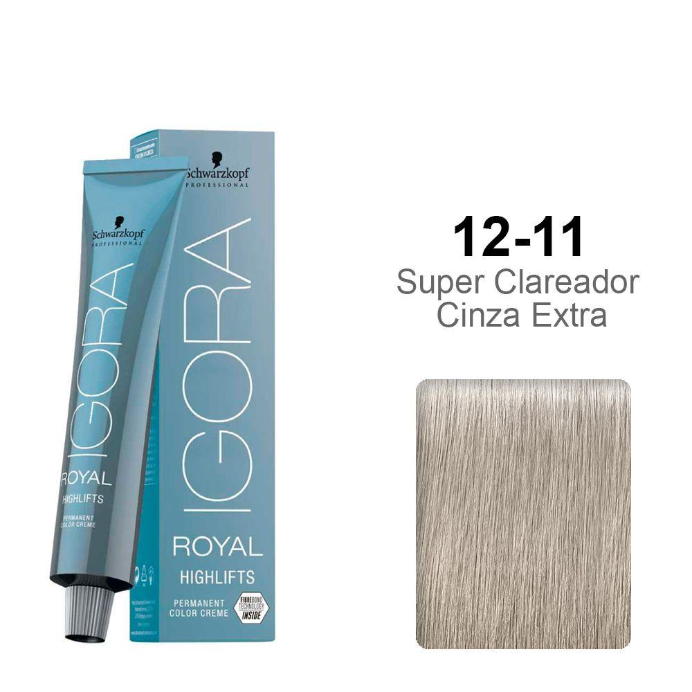 Igora Royal Highlifts 12-11 Super Clareador Cinza Extra
