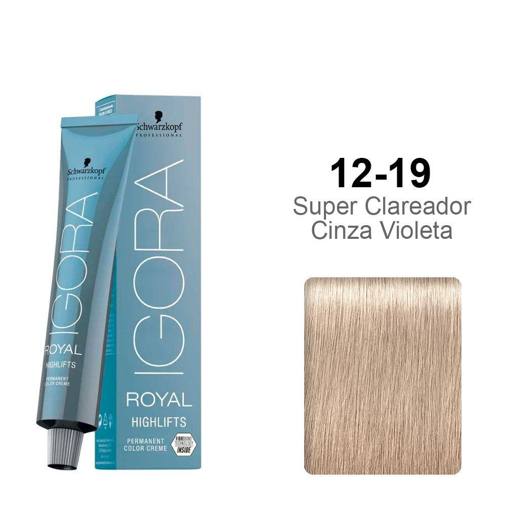 Igora Royal Highlifts 12-19 Super Clareador Cinza Violeta