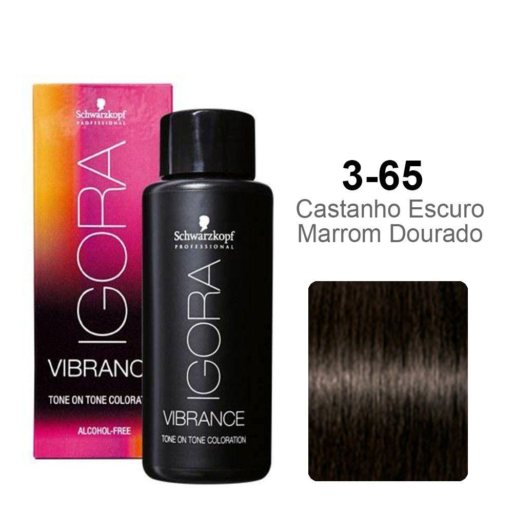 Igora Vibrance 3-65 Castanho Escuro Marrom Dourado