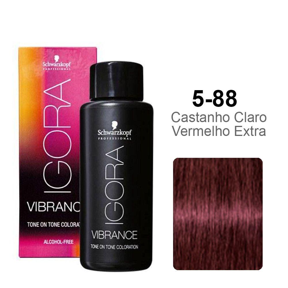 Igora Vibrance 5-88 Castanho Claro Vermelho Extra