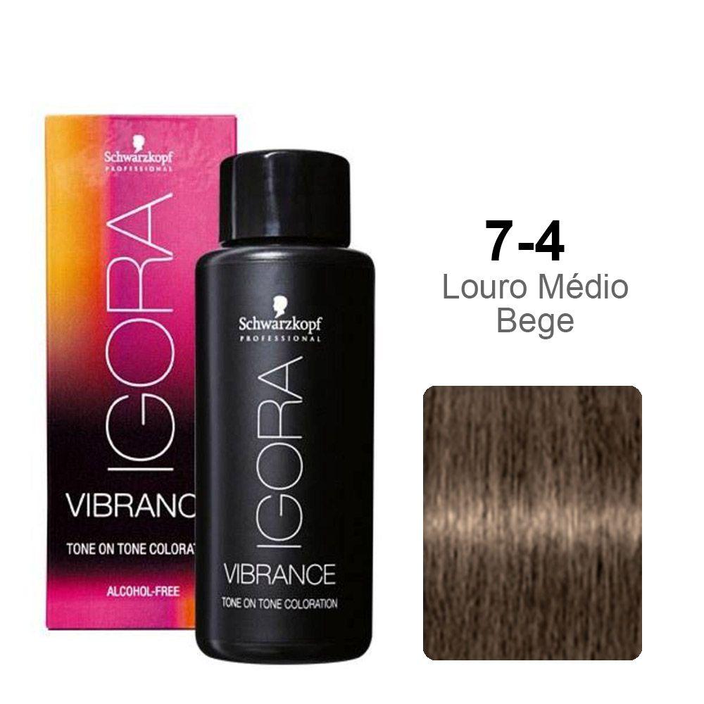 Igora Vibrance 7-4 Louro Médio Bege