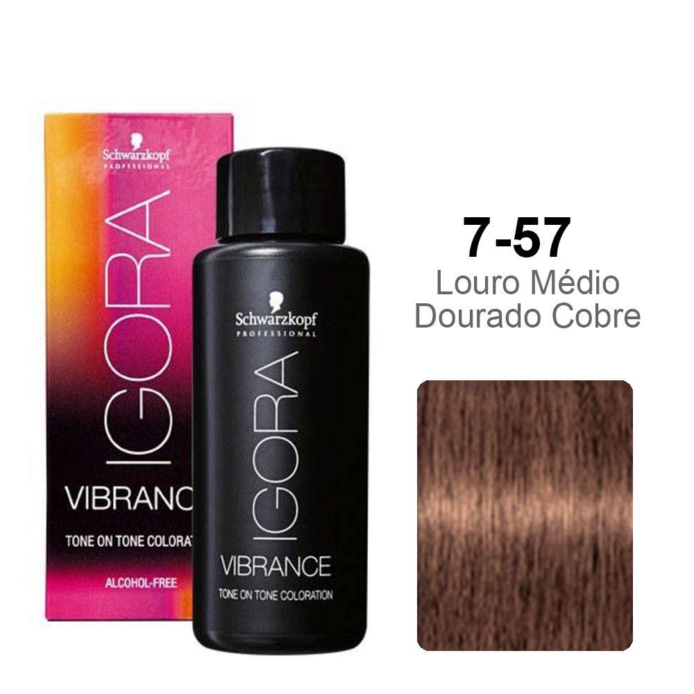Igora Vibrance 7-57 Louro Médio Dourado Cobre