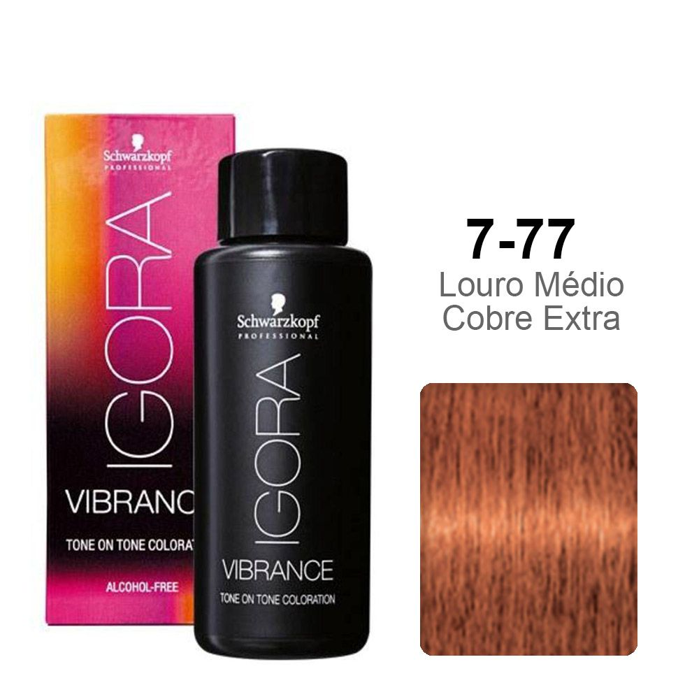 Igora Vibrance 7-77 Louro Médio Cobre Extra