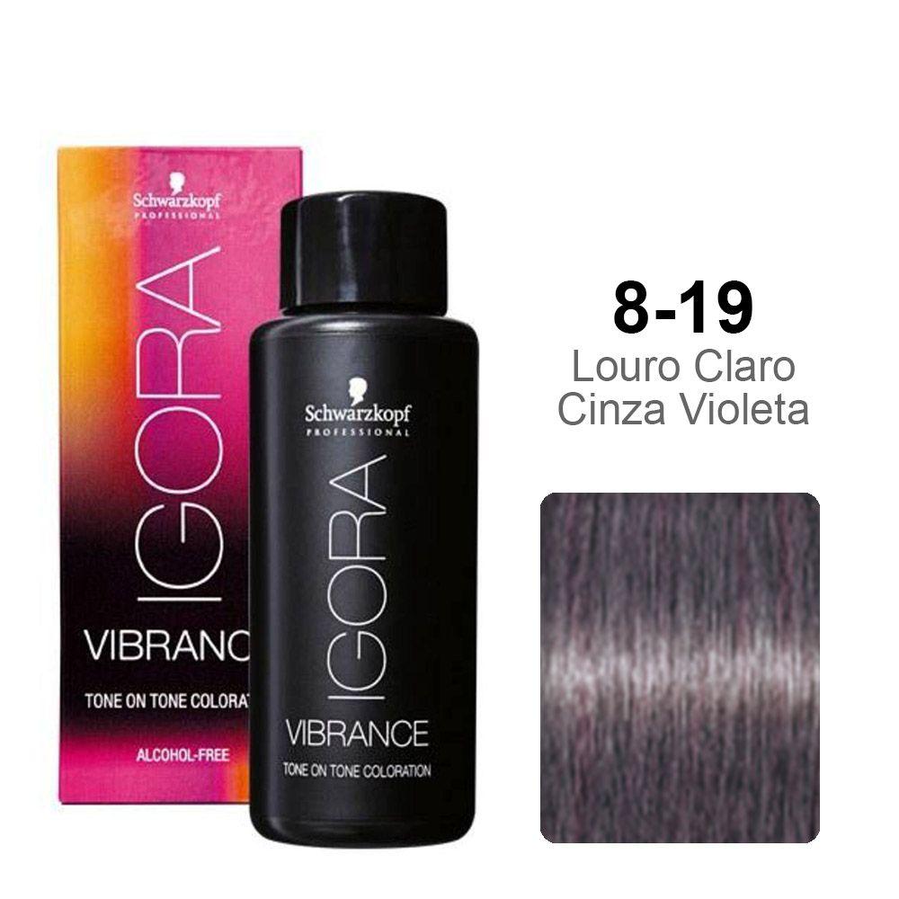 Igora Vibrance 8-19 Louro Claro Cinza Extra