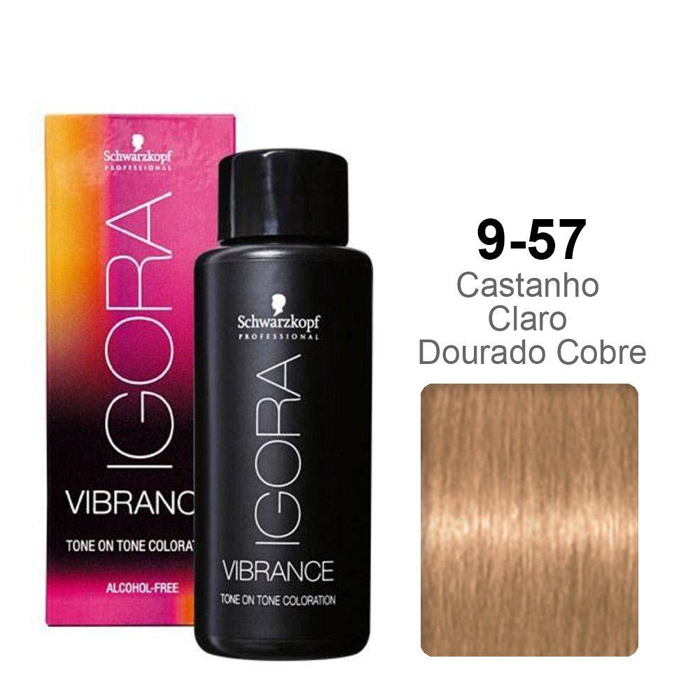 Igora Vibrance 9-57 Louro Extra Claro Dourado Cobre