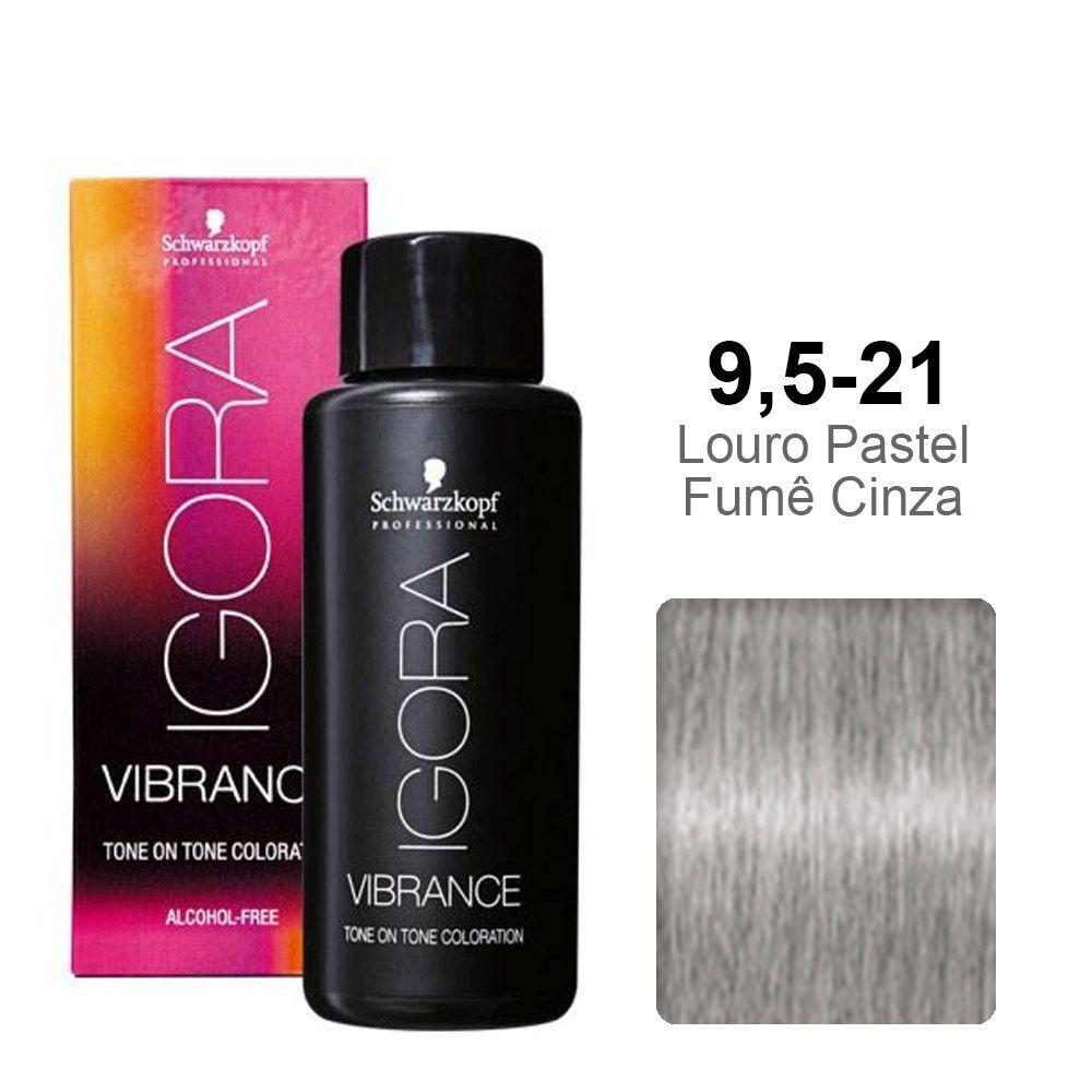 Igora Vibrance 9,5-21 Louro Pastel Fumê Cinza
