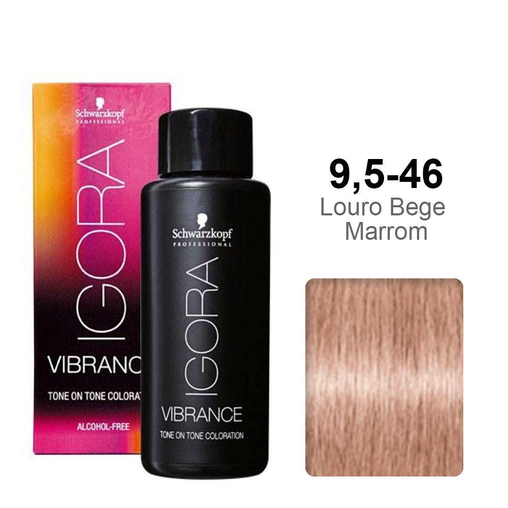 Igora Vibrance 9,5-46 Louro Bege Marrom