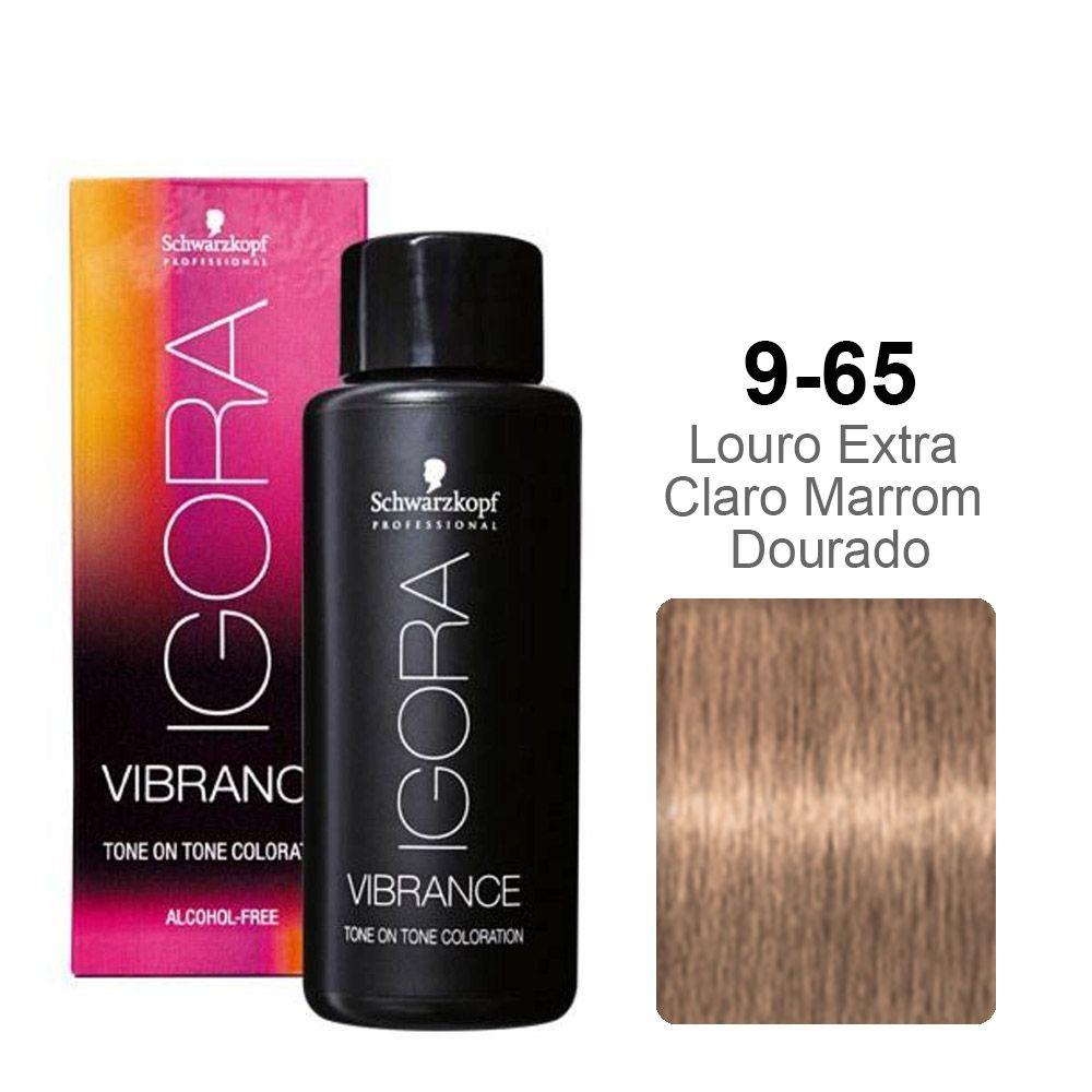 Igora Vibrance 9-65 Louro Extra Claro Marrom Dourado
