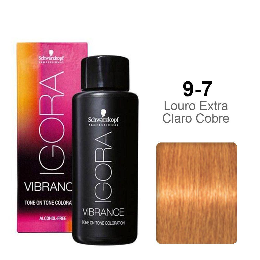 Igora Vibrance 9-7 Louro Extra Claro Cobre