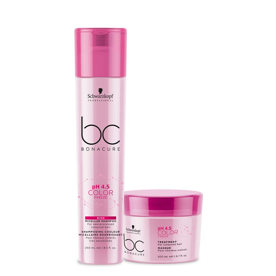 kit BC Bonacure Color Freeze Shampoo Rich 250ml + Máscara 200ml